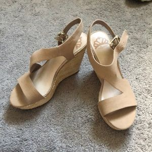 Tan wedges! Brand new!